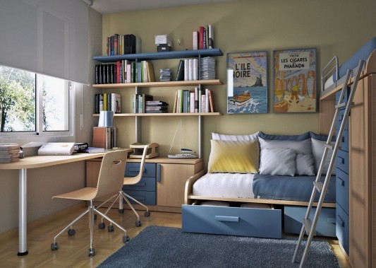 Decoration ideas for small kids bedroom my desired home - Small bedroom bed ideas ...