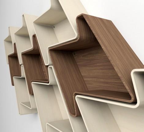 Nice Shelves cardboard bookshelf Modular Shelves