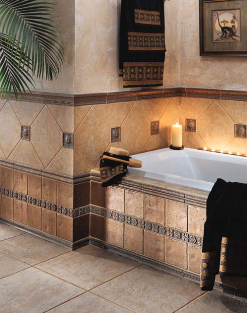 Bathroom tile decoration ideas my desired home for Tile designs for bathroom