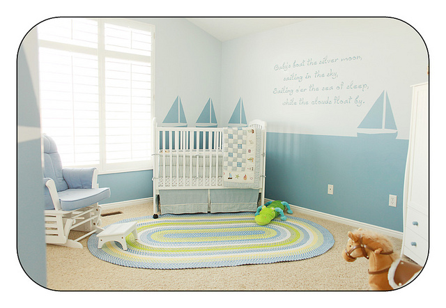 Modern baby rooms decorations for Baby boy bedroom decoration