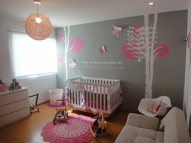 Modern baby rooms decorations for Baby s room decoration ideas