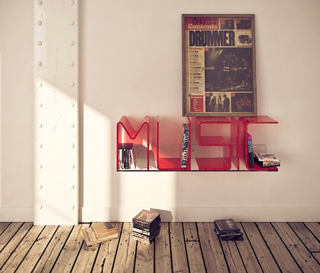 Cool Letter Shelves that talk in your home