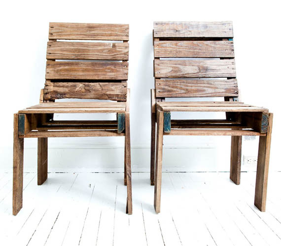 Chairs made of pallets