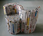 Furniture made from newspapers