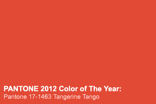 Color Of The Year 2012 Pantone Tangerine Tango My