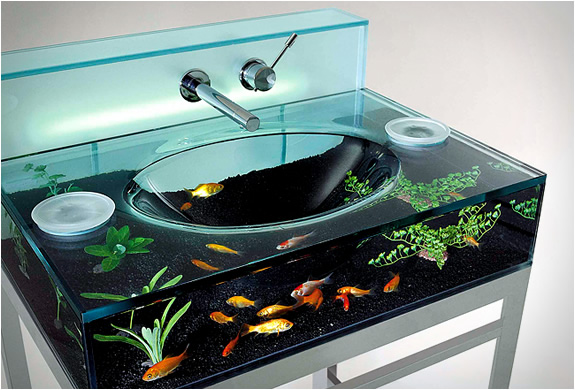 Bathroom Aquarium Sink from Italbrass