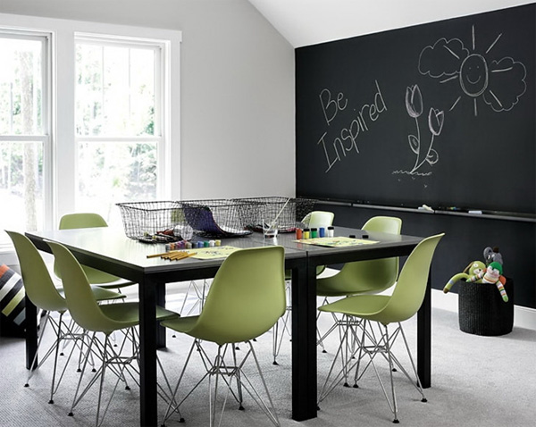 Large Walls House Decoration Ideas: Blackboard Dining Room Decorating Ideas