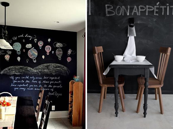 Blackboard dining room decorating ideas my desired home for Blackboard design ideas