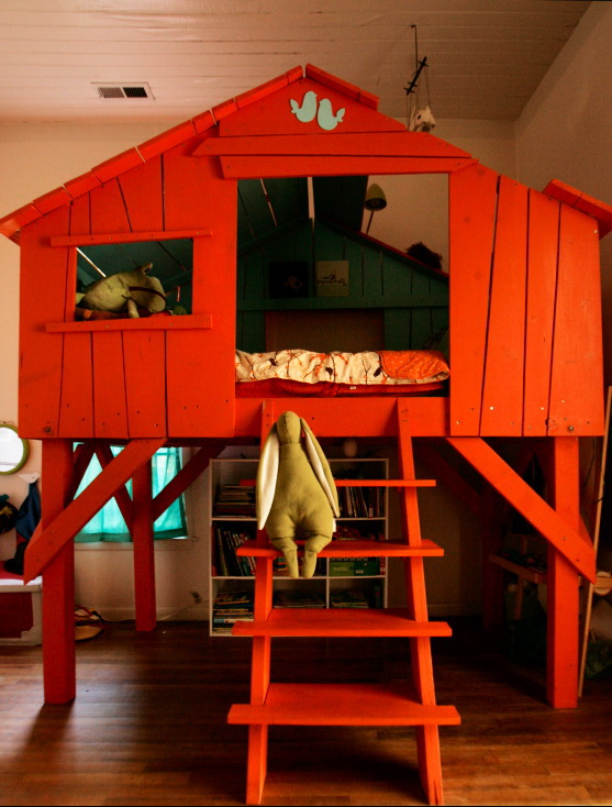 a treehouse inside the house