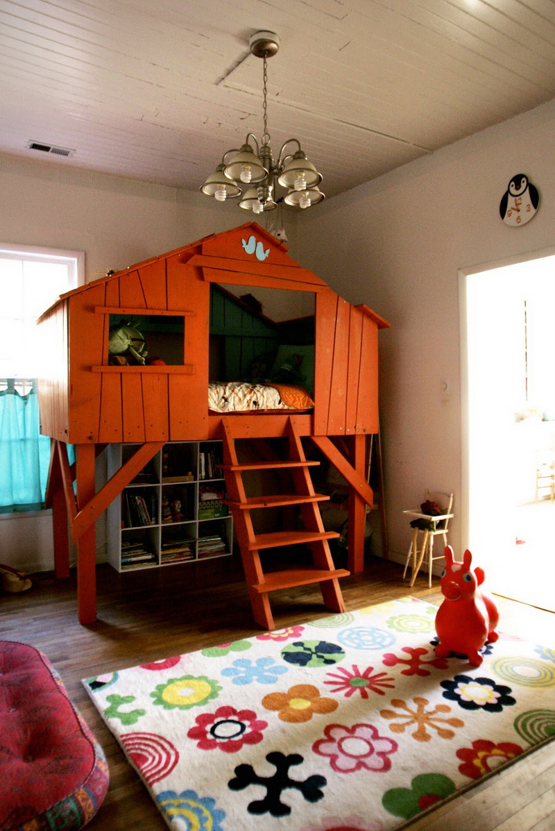 A treehouse inside the house my desired home for Fort bedroom ideas