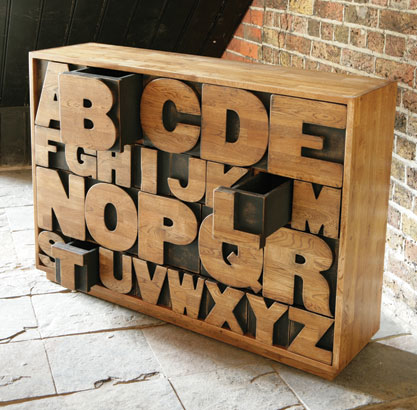 Alphabet Drawers by Kent and London