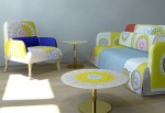 Cool, colorful living room furniture by Moroso