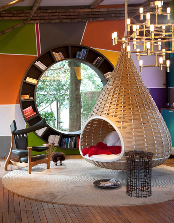 Round Window Bookcase by Fabio Galeazzo