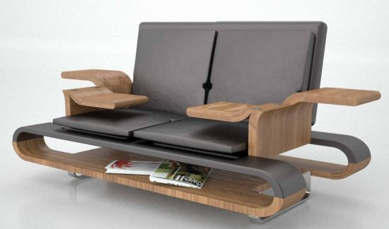Space saving functional sofa by Brandon Allen