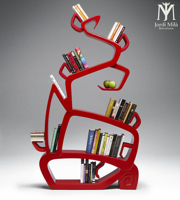 wisdomtree bookshelf by jordi mila