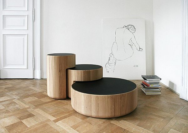 Levels low table by Lucie Koldova and Dan Yeffet
