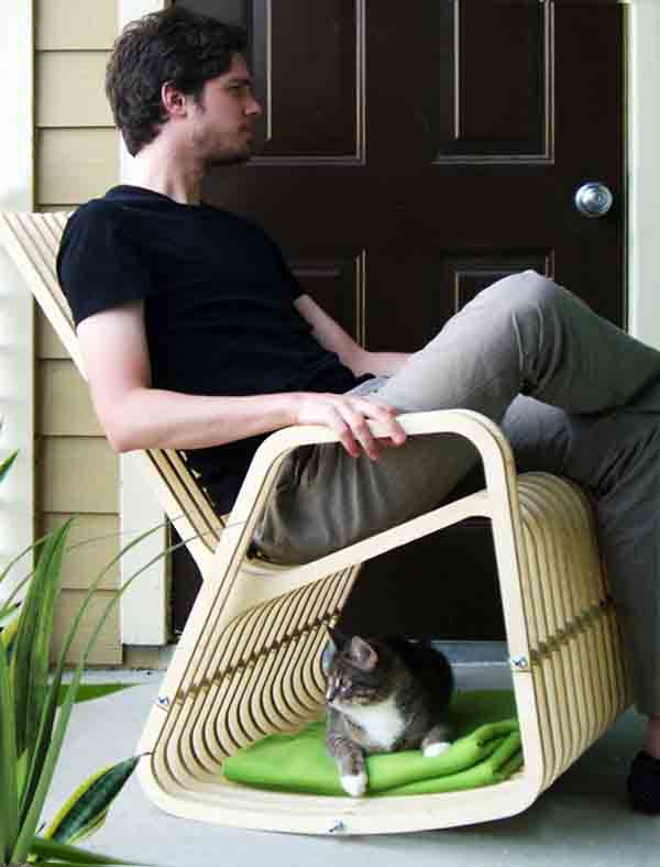 Rocking chair and pet house