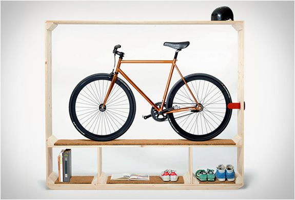 Shoes Books and a Bike all in one furniture by postfossil