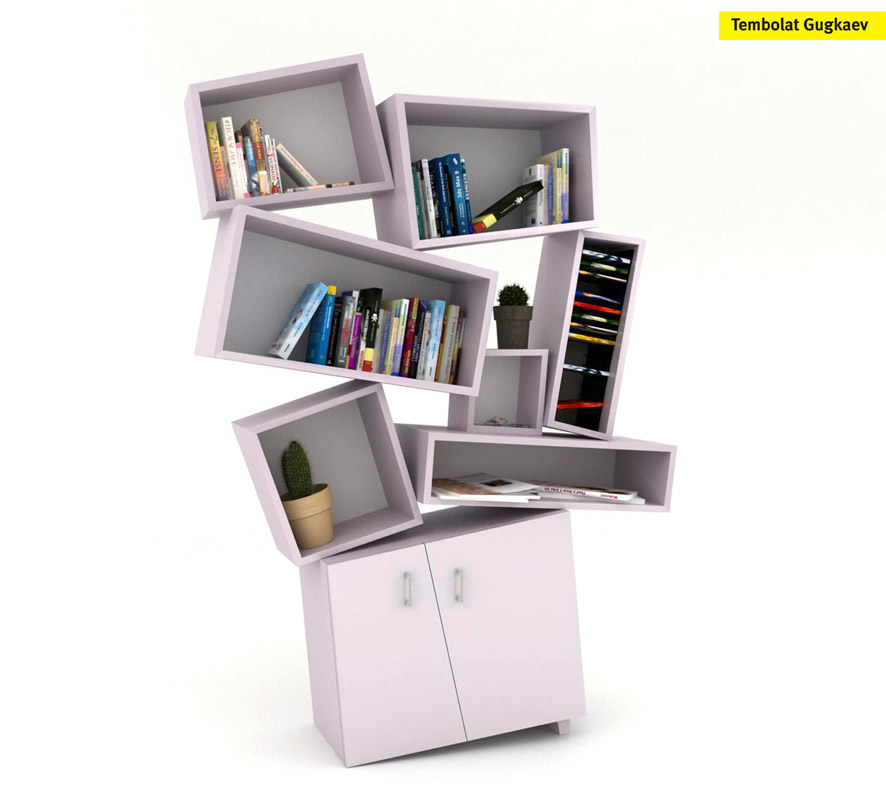 Tectonic Bookcase by Tembolat Gugkaev