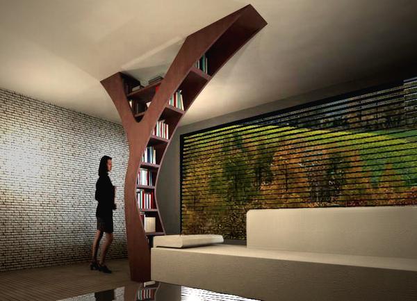 Yule Is A Fantastic Modern Bookshelf ...