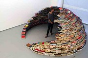 igloo made ​​of books by Miler Lagos
