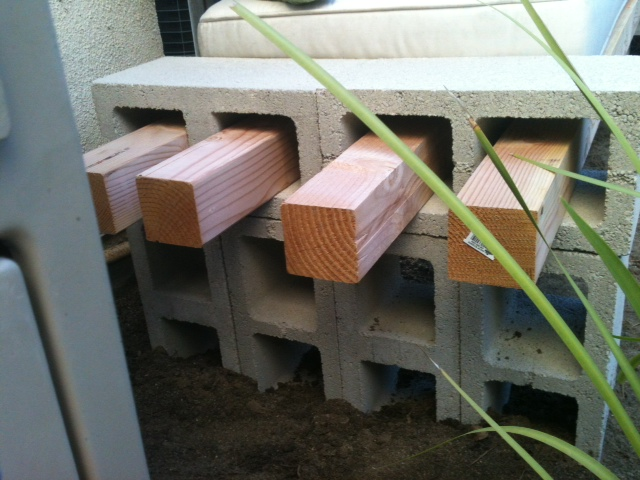 Cool Diy Concrete Block Bench