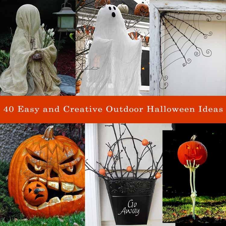 Decorate House For Halloween: 40 Easy And Creative Outdoor Halloween Ideas