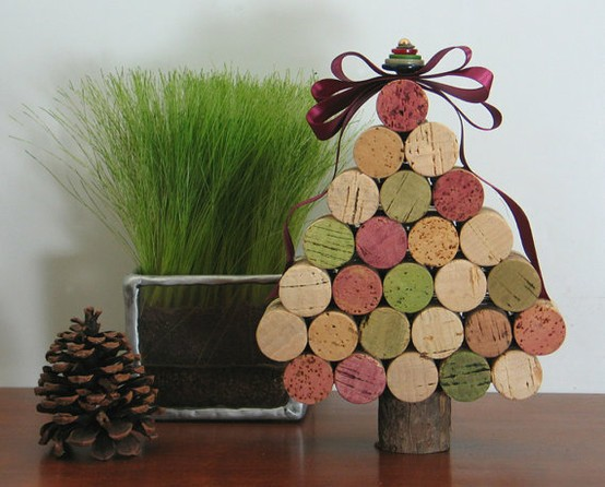 DIY Cork Christmas ornaments6