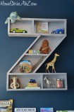 Diy alphabet letters shelf
