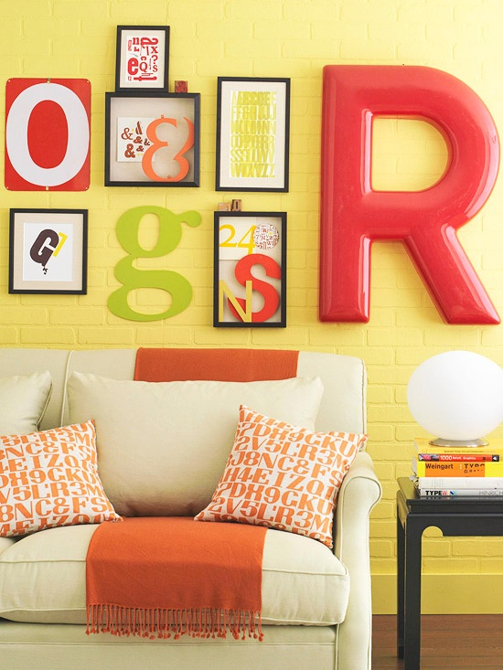decorating ideas with letters