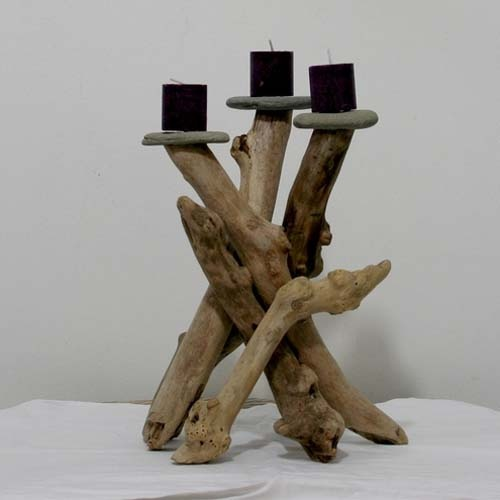 Great diy driftwood candles my desired home for Craft ideas for driftwood