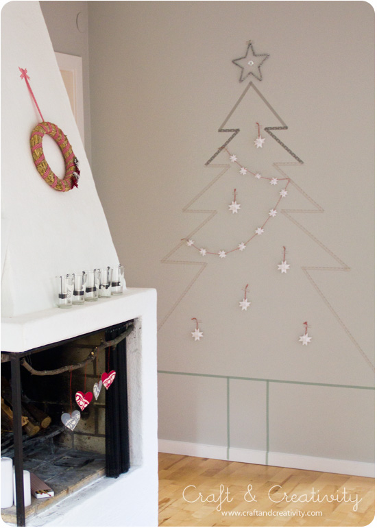 Diy washitape Christmas Tree