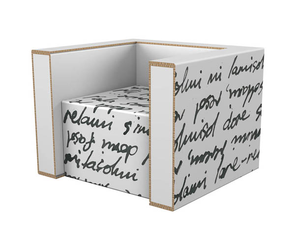Modern furniture made from cardboard1