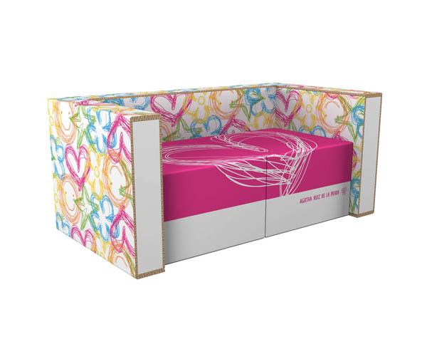Modern furniture made from cardboard5