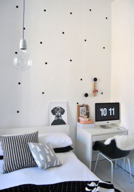 Polka dots decor trend ideas13