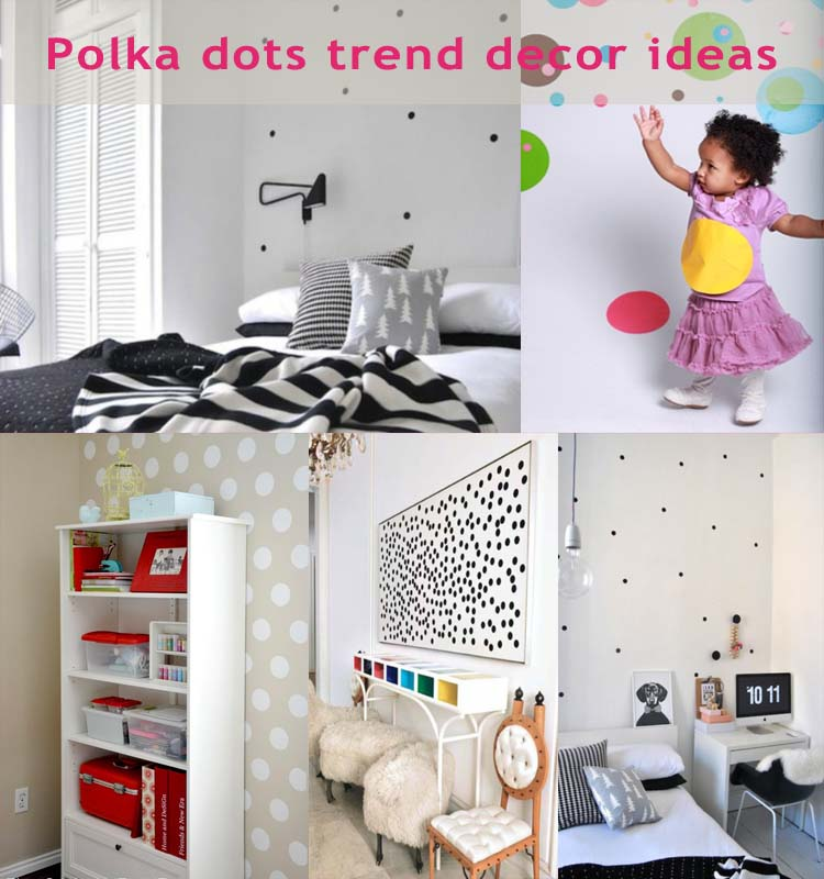 Polka dots decor trend ideas14