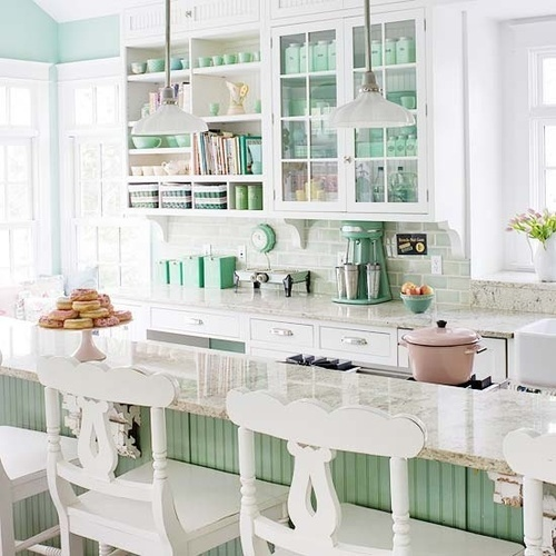 Kitchens In The Colors Of Mint My Desired Home