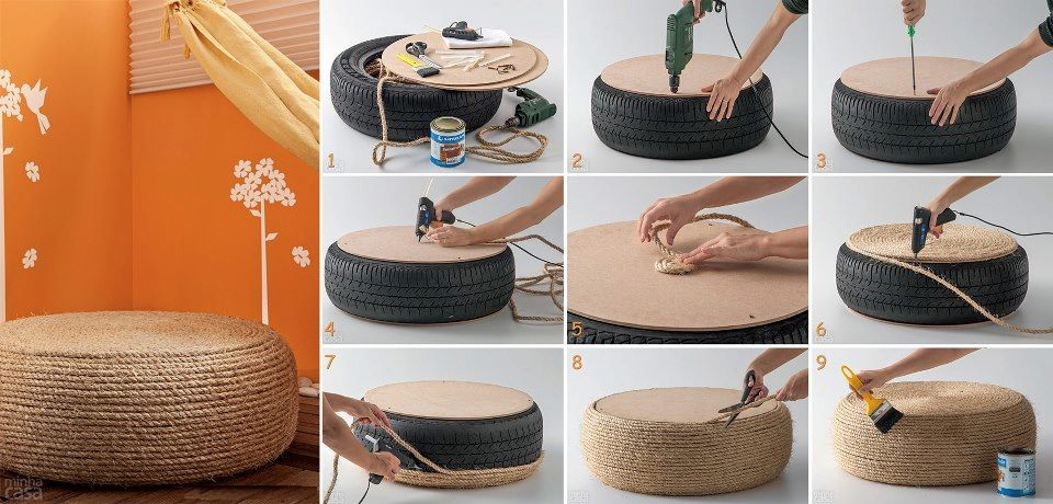 Diy ideas from old tires