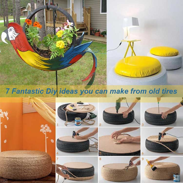 7 fantastic diy ideas you can make from old tires my for Easy diy home decorations