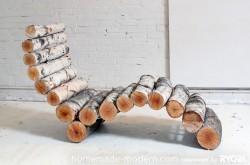 Diy log lounge chair5