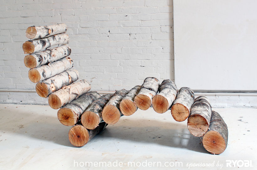 Diy log lounge chair5