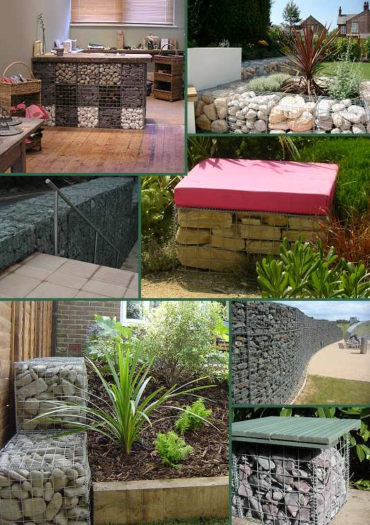 Diy craft ideas using wire mesh and Stones2