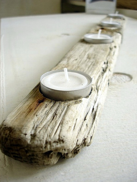Best Diy Driftwood inspirations candle holder1
