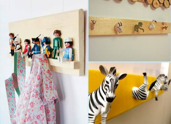 42 diy cool ideas for wall hooks and hangers my desired home for Cool wall hook ideas