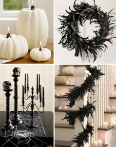 Black and white Halloween ideas32