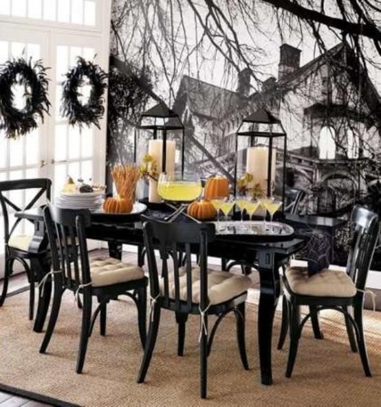 Black and white Halloween ideas7