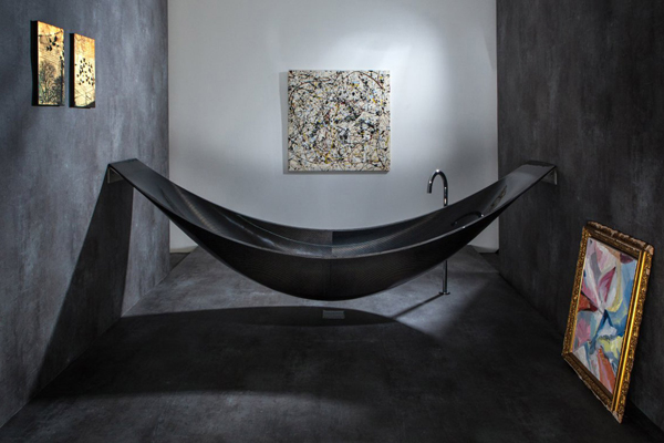 Vessel Futuristic bathtub hammock for total relaxation