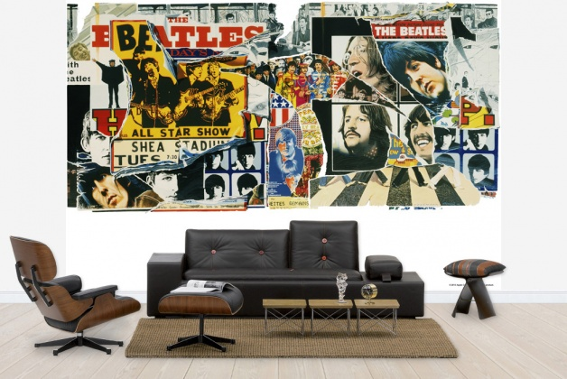 Wall decoration beatles on wall murals for Abbey road mural