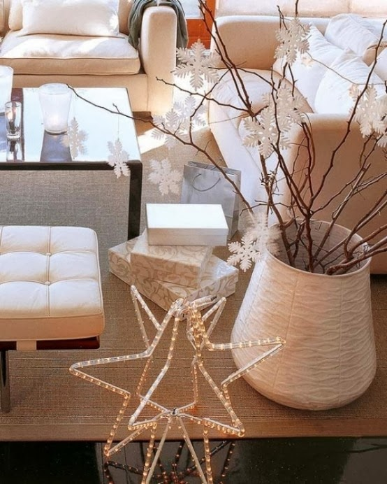 Decorating for Christmas with branches12