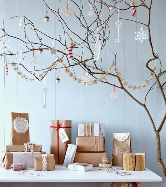 Decorating for Christmas with branches15